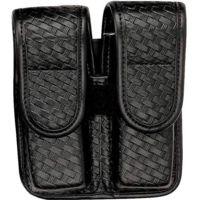 Bianchi 7902 Double Mag Pouch - Basket Black, Chrome 22081