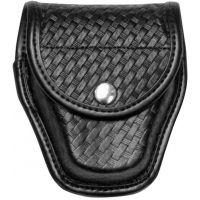 Bianchi 7917 Double Cuff Case - Plain Black, Brass 22198