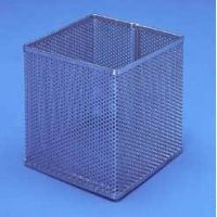 Black Machine Baskets, Perforated Aluminum PERF301/F Rectangular