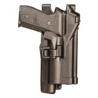 BlackHawk BHP Level 3 Serpa Light Bearing Duty Holster Plain Black Left Hand For Sig 228/229 With Or Without Rail 44H505PL-L