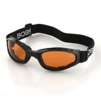 Bobster Crossfire Small Folding Goggles with Black Frame