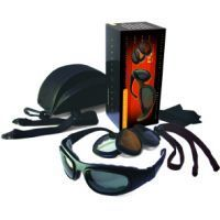 Bobster Sport & Street - II Interchangeable Lens Black Frame Convertible Goggles - Sunglasses w/ 3 Lens Set BSSA201AC