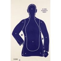 Champion Traps and Targets Blue Police Silhouette Target (100 Pack) - 45759