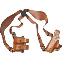 DeSantis Left Hand Tan New York Undercover Shoulder Holster w/ Double Mag Pouch 11DTBE8N0 - GLOCK 20, 21, 21SF, 29, 30