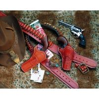 DeSantis Right Hand Tan Doc Holliday Holster 081TC53Z0 - COLT SAA 3in.