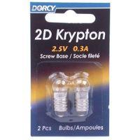 Dorcy 2D- 2.5V 0.3A Screw Base Bulb (PR2) - 2 Pk 41-1648