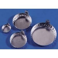 Eagle Thermoplastic Disposable Aluminum Crinkle Dishes with Tabs D28-500