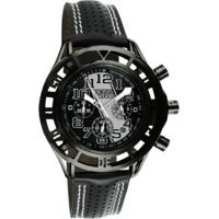 Equipe Mustang Boss Mens Watch - 55mm Case, Leather Strap, Quartz, Water Resistant