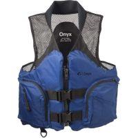 Full Throttle Mesh Deluxe Sport Vest, M Size for Adult, Ripstop Nylon Collar, Sapphire