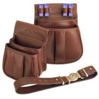 Galco 50 Ct Sporting Clays Shell Pouch Leather Chestnut SL1044CN
