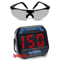 2-PC Tennis Fan Gift Package - SpeedTrac Radar Gun Hands-Free Speed Gun, Bolle Parole Sunglasses with Interchangeable Lenses