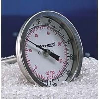 """HB Instrument Company Dual-Scale Bi-Metal Dial Thermometers 21690 225 Mm (87/8"""") Stem Length"""