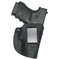 High Noon Holsters Bare Asset Black leather IWB holster for KAHR handguns