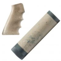 Hogue AR-15/M-16 (Carbine) Kit OverMolded Gun Grip and Free Float Forend Ghillie Tan 15918