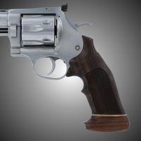 Hogue Dan Wesson Handgun Grip LargeFrame Rosewood Big Butt, Checkered 58925