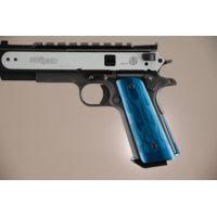 Hogue Govt. Aluminum Handgun Magrip Kit - Flames Flat Mainspring Matte Blue 01223