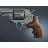 Hogue S&W K or L Rd. Handgun Grip Bantam Rosewood Ck. Bantam, Checkered 62951