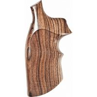 Hogue S&W K or L Sq. Butt Handgun Grip Kingwood Top Finger Groove Checkered 10651
