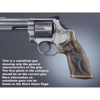 Hogue Taurus Med. & Lg. Sq. Butt Handgun Grip LamoCamo No Finger Groove, Stripe/Cap, Checkered 66431