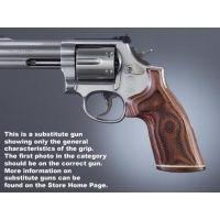 Hogue Taurus Med. & Lg. Rd. Butt Handgun Grip Rose Lam No Finger Groove, Stripe/Cap, Checkered 65531