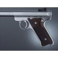 Hogue Ruger MK II Handgun Grip Rosewood Checkered 82911