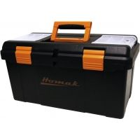 Homak 23in Plastic Tool Box w/ Tray & Dividers