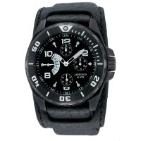 J. Springs Retrograde Mens Watch, Leather Band