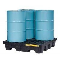 Justrite 3 Drum Pallet Yel W/plug 28628