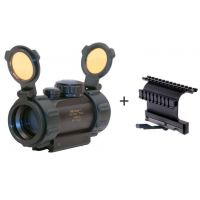 Leatherwood / Hi-Lux Optics 1x30mm Red Dot Tactical Sight w/ Integral Mount & Rubber Edge Guards & Flip-up Lens Covers ES1X30TP