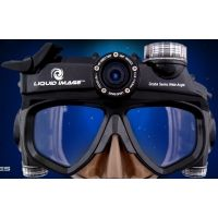 Liquid Image Scuba 5mp HD Camera Mask, Wide Angle, Black