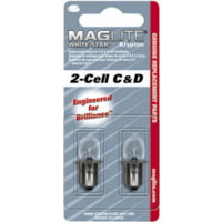 MagLite LWSA Standard White Star Krypton Replacement Bulbs for MagLite C- & D-Cell Flashlights