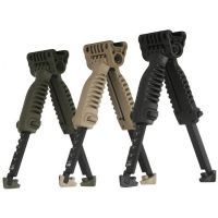 Mako Group Tactical Vertical Foregrip w/ Incorporated Bipod - Black/OD Green/Desert Tan