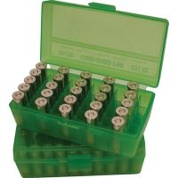 MTM P50 Fliptop Box Handgun .38-.357 Magnum Clear Green P50-38-16