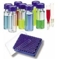 National Scientific Target DP 9-425 Screw-Thread Vials, National Scientific CERT4000-76W Unassembled Vial Kits, Certified Amber Id Vials