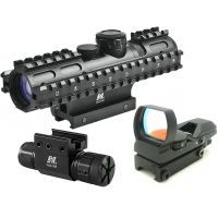 NcStar 3-9x42 Illuminated 3RS RifleScope w/ 3 Rail Sighting System