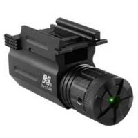 NcStar Compact Pistol / Rifle Green Laser Sight w/ Quick Release Weaver Mount