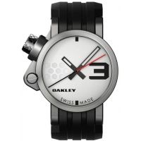 opplanet oakley transfer case quartz watch white dial and black rubber strap w honed case 10 03 main oakley watches oakley fuse box review at reclaimingppi.co