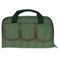 Outdoor Connection Rectangular Pistol Case with Pockets and Leather Trim