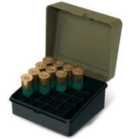 Plano Molding 12-16 Gauge Shot Shell Box OD Green/Black with Padlock Detail