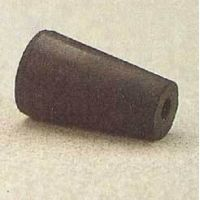 Plasticoid Black Rubber Stoppers, One-Hole 10-M291