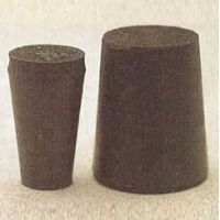 Plasticoid Black Rubber Stoppers, Solid 6--M290