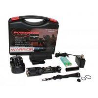 PowerTac Warrior LED Flashlight Rechargeable Kit - 650 Lumen Light w/ Batteries & Charger