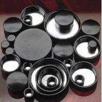 Qorpak Black Phenolic Screw Caps, Pulp/Tinfoil Liner, Qorpak 5123/12