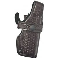 Safariland 070 Duty Holster, SSIII Mid-Ride, Level III Retention - Cordovan Basketweave, Right Hand 070-40-071