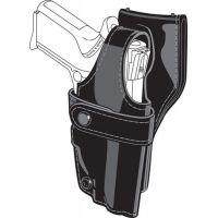 Safariland 0705 Duty Holster, SSIII Low-Ride, Level III Retention - Hi Gloss Black, Right Hand 0705-18-91