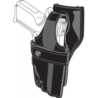 Safariland 0705 Duty Holster, SSIII Low-Ride, Level III Retention - Hi Gloss Black, Left Hand 0705-610-92