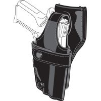 Safariland 0705 Duty Holster, SSIII Low-Ride, Level III Retention - Hi Gloss Black, Left Hand 0705-240-92