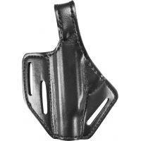Safariland 328 Belt Holster, Pancake Style - Plain Black, Left Hand 328-89-62