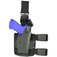 Safariland 6005 SLS Tactical Holster w/ Quick Release Leg Harness - Tactical Black, Left Hand 6005-8