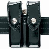 Safariland 72 Mag/Cuff Pouch, Top Flap - Hi Gloss Black, Ambidextrous 72-76-9PBL
